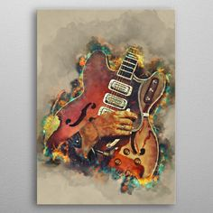 Dan Guitar Pop Art Poster Print | metal posters - Displate