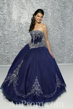 A quinceanera dress ( worn at a girl's 15th birthday)