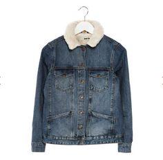 Veste en jean femme Zalando, craquez sur la Topshop Veste en jean bleu prix promo Zalando 75.00 € TTC. #Zalando - #TopShop - #Veste_en_Jean