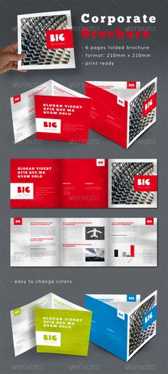 Buy Professional Corporate Brochure by StijnA on GraphicRiver. A professional looking corporate brochure. 6 pages, dimensions: 210 mm x 210 mm inch x inch) Made in Adobe I. Brochure Format, Design Brochure, Company Brochure, Creative Brochure, Brochure Layout, Brochure Template, Brochure Ideas, Flyer Design, Design Design