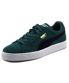 PUMA Puma Suede Classic Men  Round Toe Suede Green Sneakers'. #puma #shoes #sneakers
