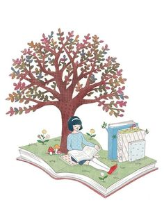 El jardín de la lectura.