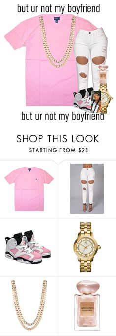 """Dyke.."" by annnhh ❤ liked on Polyvore featuring Polo Ralph Lauren, Retrò, AG Adriano Goldschmied, Tory Burch, BaubleBar and Giorgio Armani"