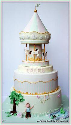 Garden Pastel Carousel - Cake by Jo Finlayson (Jo Takes the Cake) Gorgeous Cakes, Pretty Cakes, Amazing Cakes, Elegant Wedding Cakes, Elegant Cakes, Take The Cake, Love Cake, Sweets Cake, Cupcake Cakes