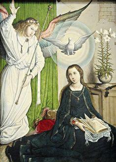 Juan de Flandes (artist) Hispano-Flemish, active 1496 - 1519 The Annunciation, c. 1508/1519.