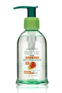 The top-rated product by consumer testers, Garnier Fructis Sleek & Shine Anti-Frizz Serum got excellent marks on its ability to prevent frizz and make hair shiny, soft, and smooth Anti Frizz Serum, Hair Serum, Hair Straightening Serum, Hair Regrowth, Arsenal, Apricot Hair, How To Make Hair, Make Up, Straight Hairstyles