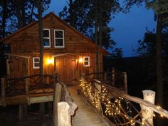 Our treehouse at night See more at www.TheMohicans.Net
