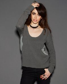 One Teaspoon Cross Hatch Jumper - Knits, Hoodies & Fleece - Clothing - The jumper is a versatile grey/moose colour and can be paired with denims or tights!