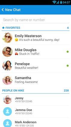 hike messenger - screenshot