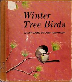 vintage kids nature book Winter Tree Birds by OnceUponABookshop, $6.00