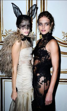 Chic fashion Halloween costume: bunny mask