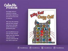 New Coloring Page: Crazy Kat! - Color Me Announcements - Color Me Forum