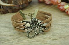 Retro bronze octopus paul commemorate braceletBrown by Richardwu, $3.99