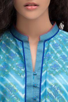 Latest Collection of Tunics & Kurtis by Krishna Mehta Churidhar Neck Designs, Neck Designs For Suits, Sleeves Designs For Dresses, Dress Neck Designs, Stylish Dress Designs, Blouse Designs, Collar Kurti Design, Kurta Neck Design, Salwar Kameez Neck Designs