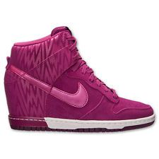 Womens Nike DUNK SKY HIGH PRINT Shoes -Pink -Hidden Wedge Heel -hi -Sz 9 -New