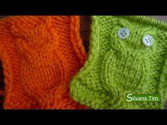 Tejido en dos agujas #21 - Como tejer PUNTO BUHO - YouTube