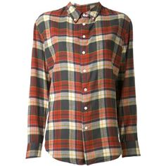 Boy. By Band Of Outsiders plaid shirt (830 BRL) ❤ liked on Polyvore featuring tops, shirts, blouses, blusas, red, long-sleeve shirt, red top, red long sleeve shirt, plaid shirt and cotton shirts