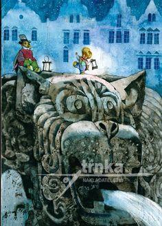 Jiří Trnka for Jan Karafiát's Broučci (Little Beetles) Animation Film, Monet, Van Gogh, Childrens Books, Monster Trucks, Sketches, Fine Art, Canvas, Classic