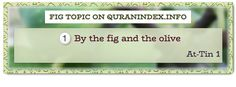 Browse Fig Quran Topic on http://Quranindex.info/search/fig #Quran #Islam [95:1]