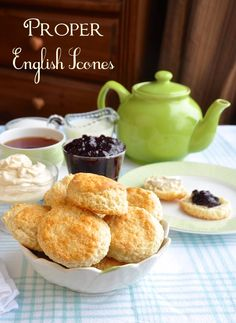 Proper English Scones For those of us here in Canada and the US. These scones are absolutely delicious with clotted cream and strawberry jam. ( I make my own clotted cream) Oh so British with afternoon tea so make mine Earl Grey please. Mary Berry, English Food, English Tea Time, High Tea, Chai, Afternoon Tea, The Best, Breakfast Recipes, Food And Drink
