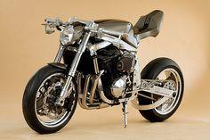German custom bike shop Custom Wolf builds a mean big-banger Suzuki Bandit 1200 custom.with a turbocharged twist. Street Fighter Motorcycle, Suzuki Motorcycle, Girl Motorcycle, Motorcycle Quotes, Sidecar, Custom Motorcycles, Custom Bikes, Triumph Motorcycles, Vespa