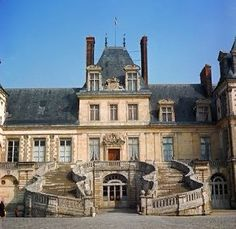 Fontainebleau, France.  I have a picture of me standing on these stairs.