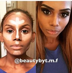 Highligt and contouring 😀 follow me on Instagram: @beautybyt.m.f