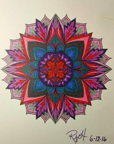 ColorIt Mandalas to Color Volume 1 Colorist: Rhonda Collins Hutchins #adultcoloring #coloringforadults #mandalas #mandala #coloringpages