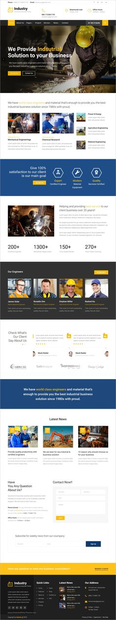 Industry is a wonderful #bootstrap #HTML template for Industrial, mechanical, #engineering, chemical industry, construction company, steel factory, Electrician, Plumbing industry and similar websites download now➩ https://themeforest.net/item/industry-factory-industrial-business-template/18923314?ref=Datasata