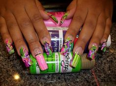 Colorful Wild Nail Design :: Nail Art Design From CoolNailsArt