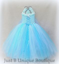 Frozen Elsa Snow Queen Inspired Ice Blue by JustBUniqueBoutique, $59.00