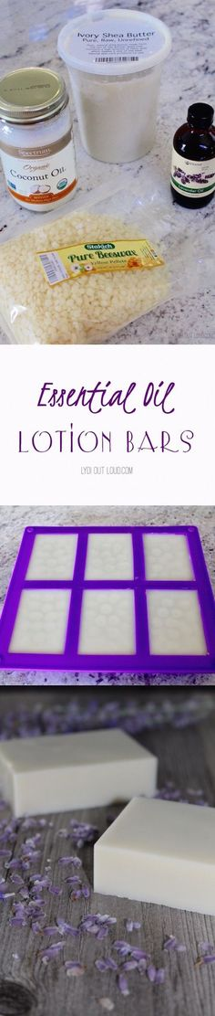 Easy DIY lotion bars - smell amazing and use 'em right in the shower!