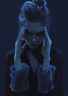 """Study"" by Fanny Marguerie Dark Fantasy Art, Dark Art, Character Portraits, Character Art, Art Sketches, Art Drawings, Arte Obscura, Art Anime, Art Et Illustration"