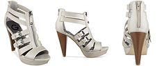 G by GUESS Women's Huiza Zip Front Platform Dress Sandals