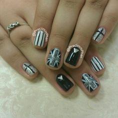 UK nails. Black and white nails. Precious Phan Nails
