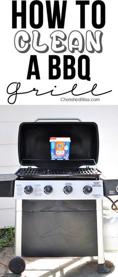 to Clean Your BBQ Grill Do you have a gross grill? Learn How to Clean your BBQ Grill fast and easy!Do you have a gross grill? Learn How to Clean your BBQ Grill fast and easy! Clean Grill, Bbq Grill, Grilling, Grill Grates, Deep Cleaning Tips, Cleaning Hacks, Grill Cleaning, Diy Hacks, Diy Cleaning Products