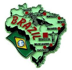 MGI Companies, Inc. - Brazil - International Country Shaped Map Magnets, $2.89 (http://www.internationalgiftitems.com/brazil-magnetic-map)