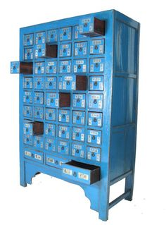 Traditional Chinese Herbal Medicine Cabinet  with a modern twist