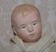 German Bisque Head Character Boy by Steinbacher German Boys, Antique Dolls, Antiques, Character, Antiquities, Antique, Old Stuff, Lettering