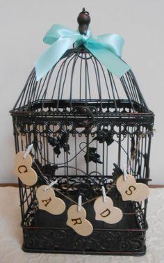 Large Wedding Birdcage Card Holder / Wedding Card Box by ThoseDays, $68.00