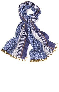 New Floral Printed Cotton Scarf