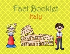 This fact booklet on Italy is a great resource to use for a research project on countries around the world/Europe with your pre-k/kindergarten class. Included in this product is a black and white informational book about Italy that can be used for independent reading as well as for guided reading groups.