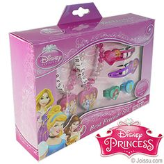 DISNEY'S PRINCESS FRIENDSHIP SETS. With 2 stretch friendship bracelets, 2 rings and 2 snap hair clips, these are perfect for any BFF's. Each set display boxed.  (6 pieces per set) Size 1.5 X 5 X 7 Inches