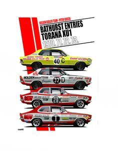 Australian Muscle Cars, Aussie Muscle Cars, Holden Torana, Holden Australia, V8 Supercars, Old Race Cars, Indy Cars, Rally Car, Auto Racing