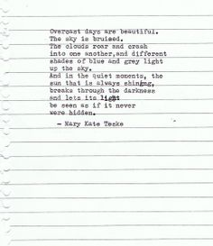 Typewriter Poem #141 | Mary Kate Teske