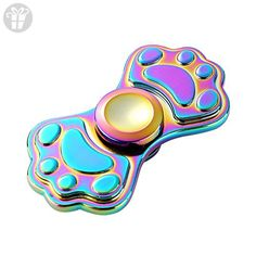 Rainbow Colors Cute Cat Claw Hand Spinner Desk Tip Spiral Kitty Claw Toy for Kids and Adults - Fidget spinner (*Amazon Partner-Link)
