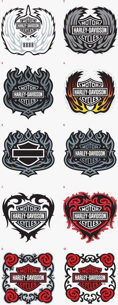 Harley-Davidson Emblems on Behance #harleydavidsongirlsbaby