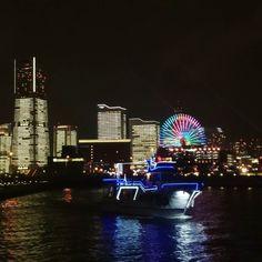 みなとみらい #横浜 #夜景 #ライトアップ #夜空  #みなとみらい #japan #yokohama #sky #skyline #nightview #minatomirai #lightup #illmination #winter