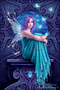 Astraea ~ fairy with butterflies ~ Art by Rachel Anderson ~ silverstars.us