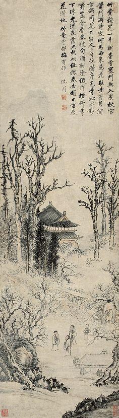 Shen Zhou(沈周) ,  探梅图